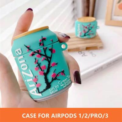에어팟 프로/3/2/1 특이한 녹차 음료수 실리콘 케이스