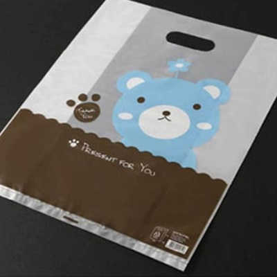 귀여운 캐릭터 비닐 봉투 선물 들고 다니기 편한