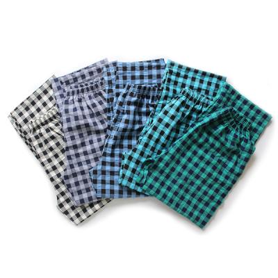 [쿠비카]사각체크 9부 파자마 남성잠옷 BNBR-M054
