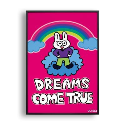 DREAMS COME TRUE / 일러스트 액자