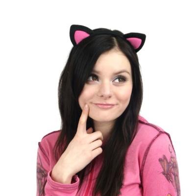 핑크 캣츠 고양이 머리띠