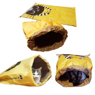 고양이 숨기 놀이 시크릿 하우스 종이집 캣하우스