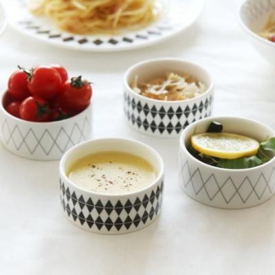 북유럽풍 주방 수프 과일 반찬 다용도 선물 찬기 4P