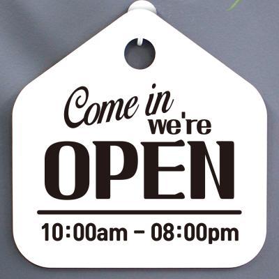 영업시간안내판_001_Come in we are OPEN