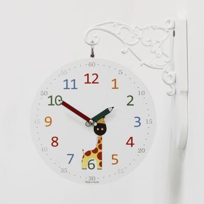 (kthx0439)교육용 양면시계(코끼리/기린)