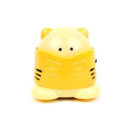 고양이 미니 청소기 - 옐로우