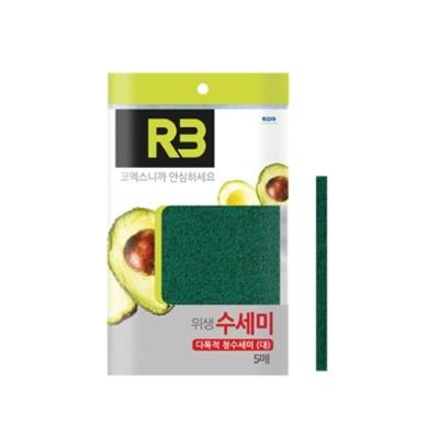 [코멕스산업] (R3) 다목적청수세미 (대) 5매입 402255
