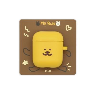 [한톨상점]반곰이 얼굴 에어팟케이스(노랑)