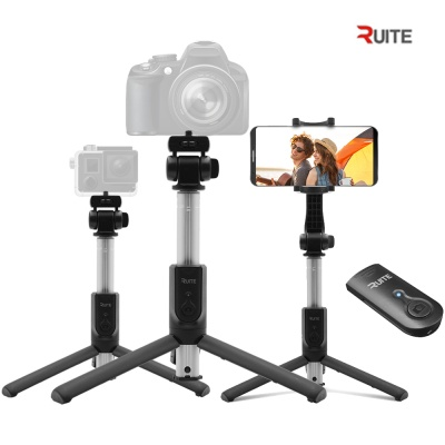 루이트 블루투스 삼각대 액션캠 무선 셀카봉 MI1 블랙