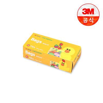 [3M]라인프렌즈 후레쉬 위생백 100매(미니)