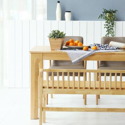 [채우리] 보그 4인 원목 식탁세트(가죽의자/벤치)
