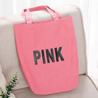 빈티지 레트로 핑크 에코백 1개