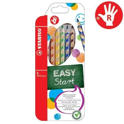 이지컬러 색연필 6본세트 - 오른손