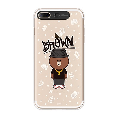 iPhone7 Plus LINE FRIENDS BROWN SWAG Light UP Case