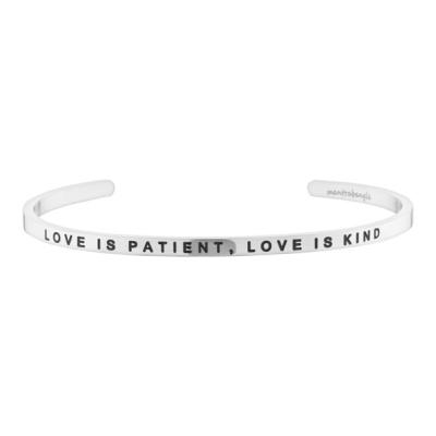 [만트라뱅글]LOVE IS PATIENT, LOVE IS KIND - 실버