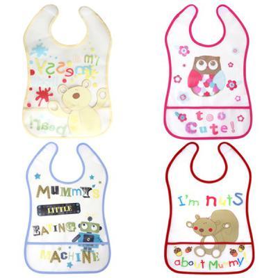 for BABY 아기를 위한 실용적인 방수 턱받이4종500006
