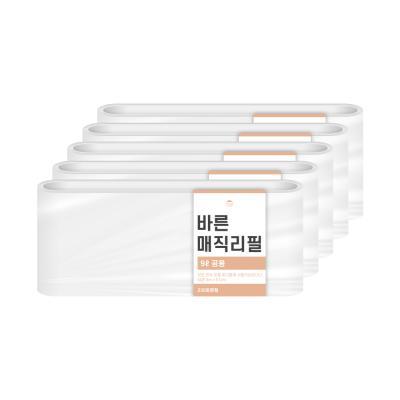 [바른]매직리필 9L 연속비닐(매직캔220호환) 5개