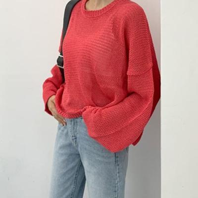 여성 가을 라운드 니트 티 스웨터 캐시미어 메티스