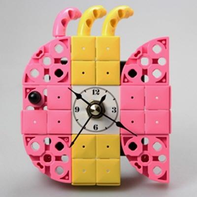 물고기7 블럭시계 (170321) 블럭레고형시계,조립시계