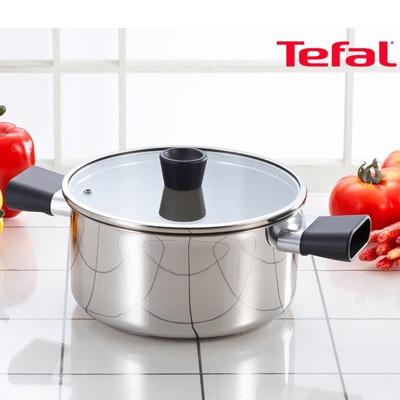 주방명품 Tefal 테팔 스테인레스 이지그립 양수냄비 18cm (단품)