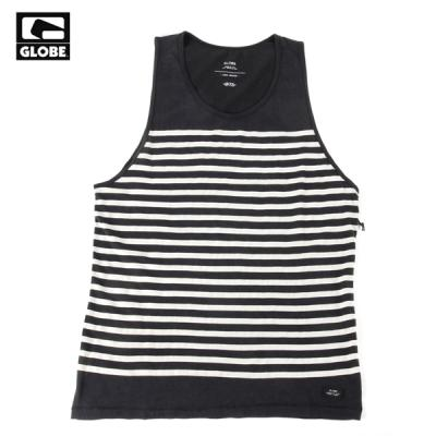 [GLOBE] MOONSHINE SINGLET TANK TOP (ACID BLACK STRIPE)