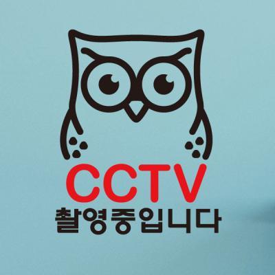 생활스티커_부엉이 CCTV촬영중1