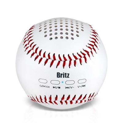브리츠 휴대용 블루투스 스피커 BZ-MAB15 Base Ball (MicroSD카드 입력 단자 / 외부입력 AUX 단자 / USB 충전)