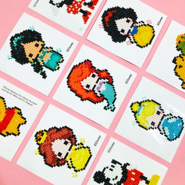 DIY 디즈니 프린세스 어린이 스티커형 보석십자수