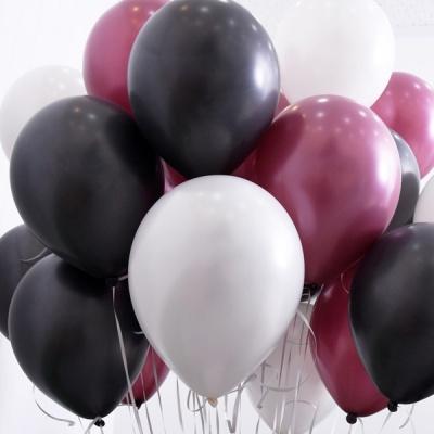 천장장식 펄풍선(헬륨효과)세트-블랙와인
