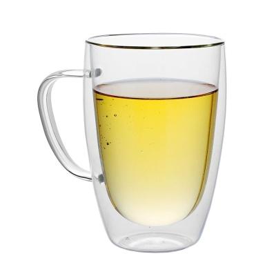 [로하티]크리스 이중 유리컵(350ml)/ 투명잔