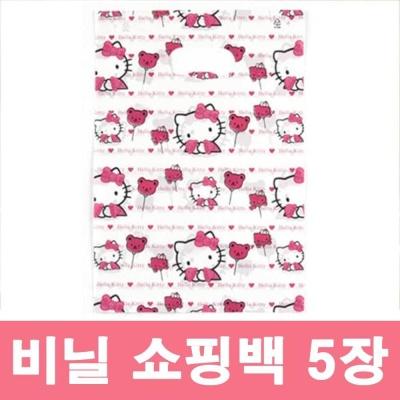 고양이 캐릭터 비닐 쇼핑백 예븐 선물 포장용