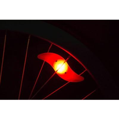 실리콘 자전거 휠라이트(레드) LED 안전등