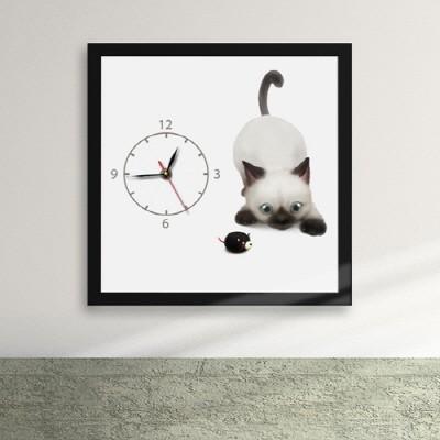 ix137-장난감과 놀고싶은 고양이 액자시계