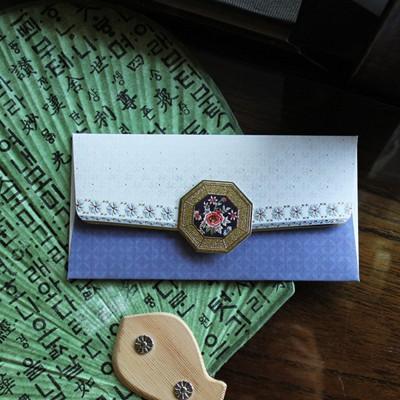 블루팔각 봉투 / 020-ME-0026