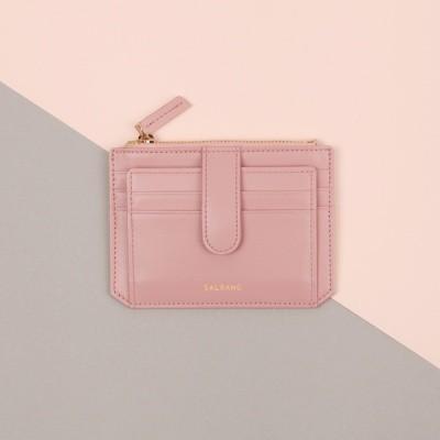Dijon 301S Flap mini Card Wallet light pink 디종 플랩 지갑 라이트핑크