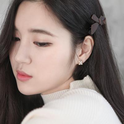 제이로렌 M01439 꽃송이 진주와 블루 아게이트 귀걸이
