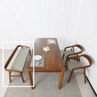 키츠 고무나무 원목 3인 식탁 벤치의자