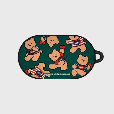 Dot dancing bear-green(Buds hard case)