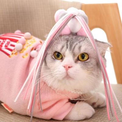 바우미우펫 폼폼이 고양이 낚시스틱 장난감 딸랑이