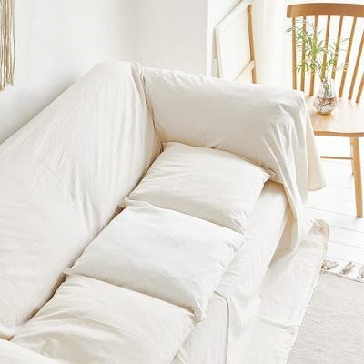 사각 의자 방석 광목 아이보리 화이트인테리어 2color