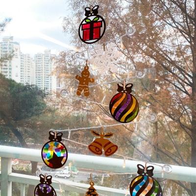 셀로판지 크리스마스 썬캐쳐 만들기 키트