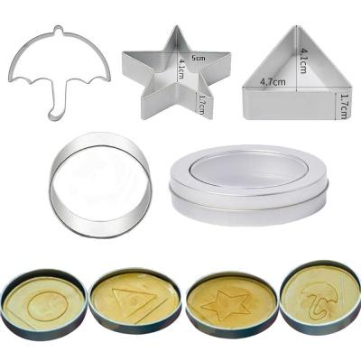 오징어 달고나 만들기 원형 삼각형 우산 별 모양 틀