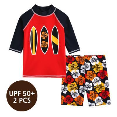[스윔웨어] 쿨서핑래쉬가드_2PCS(UPF50+) 유아수영복 남아래쉬가드