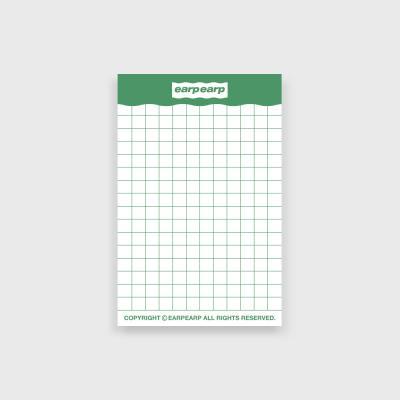 signature memo pad-green((떡메모지)