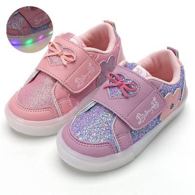 바니비 플라워라이트 유아 LED 라이트 운동화 신발