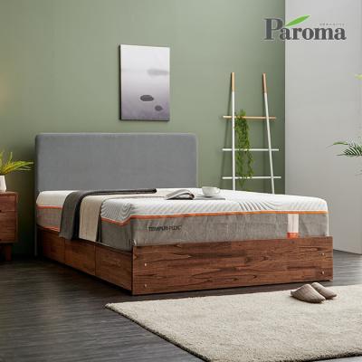 파로마 테리 패브릭 원목침대 수납형 Q GS008