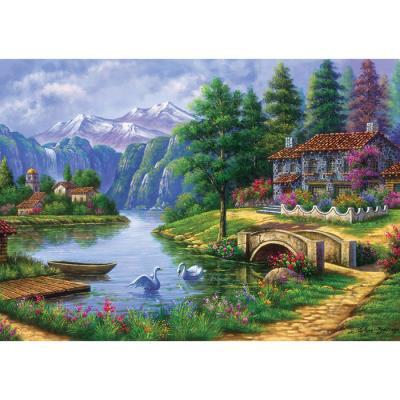 1500피스 직소퍼즐 - 잔잔한 호숫가의 풍경