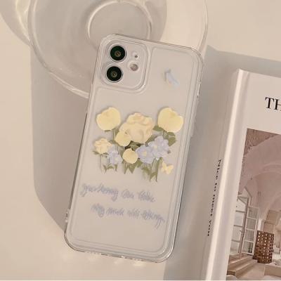 아이폰 케이스 12 11 프로 맥스 미니 X 8 화이트 튤립