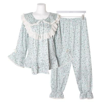[쿠비카]잔잔한 플로럴 모티브 투피스 여성잠옷 W670