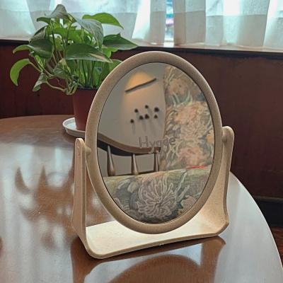 화이트펜 증정-화이트 감성 프레임 원형 탁상거울